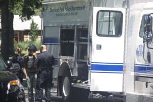 The Overland Park Bomb Squad unit was preparing to remove the potential explosive.