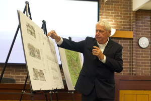 Architect Rick Jones walked the Planning Commissioners through the new Mission Chateau project.