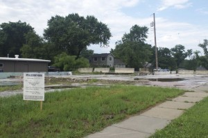 The condition of the lot at 47th and Mission Road has been a point of contention in the discussions.