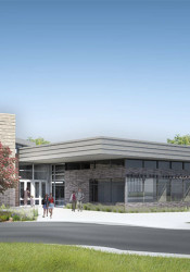 The new Briarwood building will have a secure entry and improved pick-up and drop-off infrastructure.