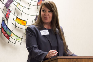 Rep. Stephanie Clayton told the audience that she sometimes felt the entire state was being gaslighted by the conservative wing that controls Kansas government.