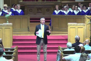 Paul Rock delivered a sermon Sunday commemorating Second Presbyterian's 150th birthday.