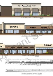 A rendering of the Sprouts building submitted to the city of Overland Park.