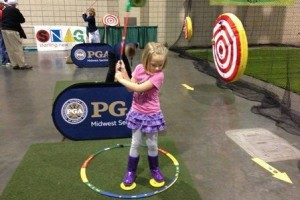 The PGA's SNAG program works to introduce the fundamentals of golf to youth. Photo via Midwest Section PGA Facebook.