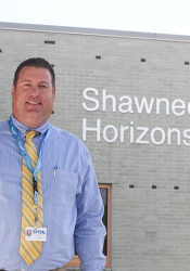 New Horizons High School Principal Paul Colwell comes to Shawnee Mission from Turner High School, where he was principal.