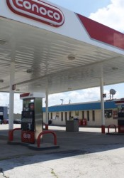 The closed gas station on Johnson Drive could be redeveloped for a new purpose.