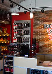 The new Red Wing store on Johnson Drive includes new fixtures and furniture.