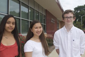 Indian Hills Middle School students Azul Aguirre, Shelby Winter and Caden Gird have earned the President's Service Award.