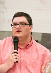 Currently a graduate student at UMKC, Luke Harness started transitioning from female to male in 2012.
