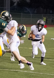 Junior Sky Tate has quickly emerged as a speedy offensive weapon for the Lancers.