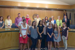 Mission lifeguards had their picture taken with the city council after making a presentation asking for a raise.