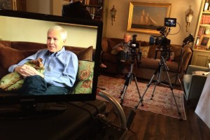 Dr. Piehler during one of the interviews at his home.