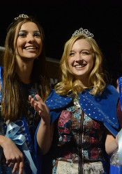 Second Attendant, Chloe Stanford  First Attendant, Brooke Erickson  Homecoming Queen, Chloe Kerwin, center, with attendants Brooke Erickson and Chloe Stanford.