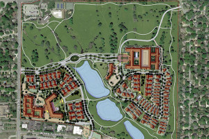 The most recent site plan for the new Meadowbrook public park and surrounding development.