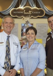 Karen, Jim, Bev and Alex Edwards are the family members involved with Nothing Bundt Cakes in Mission.