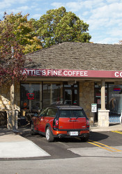 The Hattie's Coffee building at Corinth Square is slated to get a facelift.