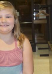 Highlands fourth-grader Lola Gravatt.