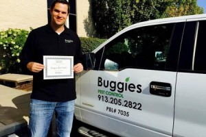Evan Whitfield and Buggies Pest Control is the New Business of the Year winner.