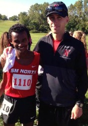 Coach Aaron Davidson and Belesti Akalu both won top honors in the metro cross country voting.
