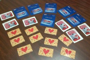 The gift cards will be used in emergency situations.
