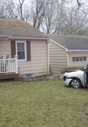 A car ran into a house at 51st and Buena Vista in Roeland Park Monday morning.