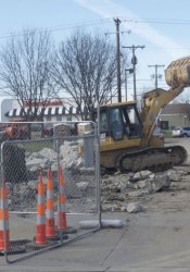 The QuikTrip station on Shawnee Mission Parkway at Metcalf is now a pile of rubble.