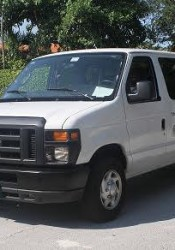 One of the white vans that will be used by Tyler Technologies for the project.
