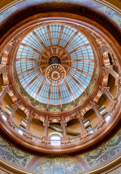 The capitol dome in Topeka.