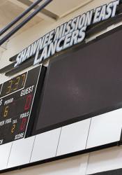 SM East installed a video scoreboard in its gym last winter.