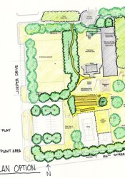 The new design for R Park shown to residents Tuesday.