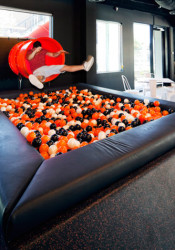 Cute... Gimmicks like this ball pit aren't likely to persist.