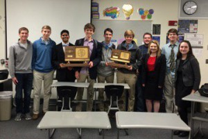 SM East's debate teams celebrating the victory. Photo via Twitter.