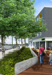 One of the renderings shown for the project.