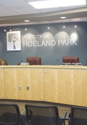 The Roeland Park council dias was empty most of Monday evening as the council spent its time in executive session