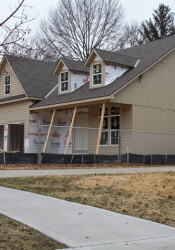 A tear down project on 71st Terrace that was listed for sales at $677,000 sits considerably higher than the two original Prairie Village ranch homes it neighbors.