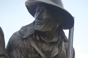 Jim Bridger's statue in Westport.