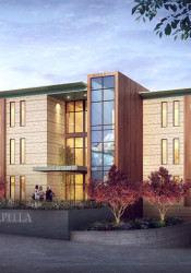 A rendering of the south elevation of the Capella development.