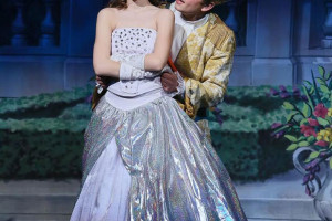 Savannah Worthington and Charlie Jensen are Cinderella and Prince Charming in SM East's production of Cinderella.