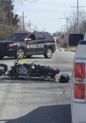 The accident blocked 47th Street at noon Friday.