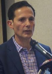 Developer Tom Valenti addressed Mission residents Saturday morning.