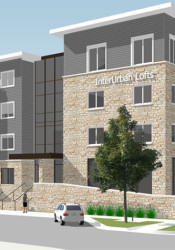 A rendering of the new InterUrban Loft project.