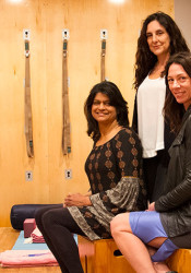 Body in Sync trainers and therapists Sushma Patel (from left), Karim Stamati and Kristina Stewart.