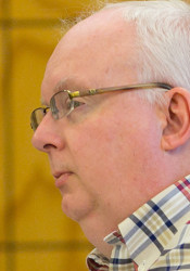 David Morrison at Monday's city council meeting.