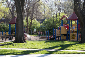 Taliaferro Park benefitted from a new play structure installed last year.