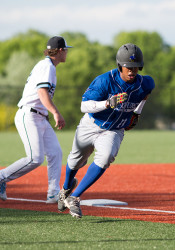 Rockhurst's three-runs in the fifth inning essentially put the game out of reach for the Lancers.