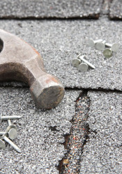 Composite shingles aren't designed to lay on top of shake, which can shorten the useful life of the roof.