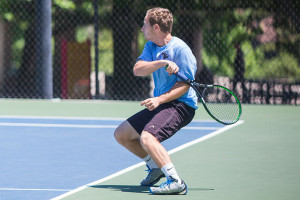 Recent SM East graduate Jack Santilli is among the local players competing in the US Open National Playoffs USTA Missouri Valley Sectional Qualifying Tournament at Homestead.