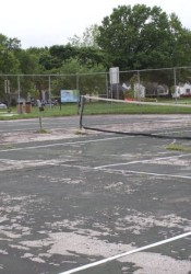 The tennis courts in R Park would be repaired in 2017 under the current CIP.