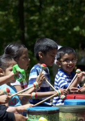 Percussion Magic delighted kids of all ages Saturday morning at the Merriam Turkey Creek Festival.