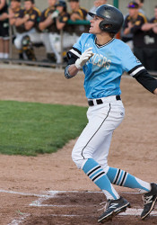 Luke Anderson will bring his hot bat to Hoglund Thursday as the Lancers open state baseball play.